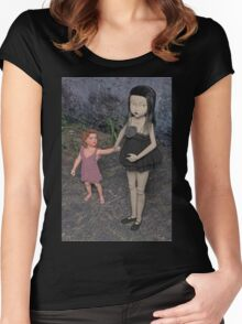 The Doll and Her Child Women's Fitted Scoop T-Shirt