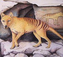 Tasmanian Tiger (Thylacine) by Elizabeth Russell-Arnot