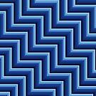 Stripy steps in Blue by bradwoodgate