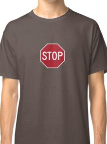 stop sign funny bro truck stop tee  Classic T-Shirt