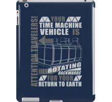 Time Travel Backwards iPad Case/Skin