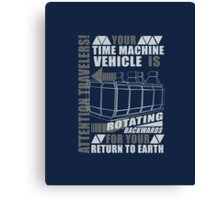 Time Travel Backwards Canvas Print