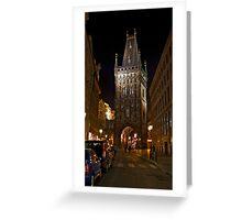 Powder Tower, Prague Greeting Card