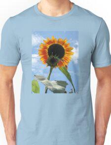 Backlit Sunflower and Bud Unisex T-Shirt