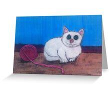 Cat and Yarn Greeting Card