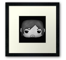 AMC The Walking Dead - Black and White Daryl Dixon - Funko Pop! Framed Print
