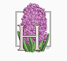 H is for Hyacinth Womens Fitted T-Shirt