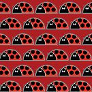 Lots Of Ladybugs iPad Case by Louise Parton