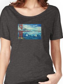 San Francisco golden gate bridge sailing day Women's Relaxed Fit T-Shirt