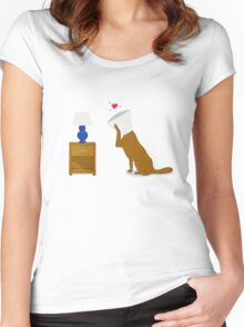 Dog In Love Women's Fitted Scoop T-Shirt