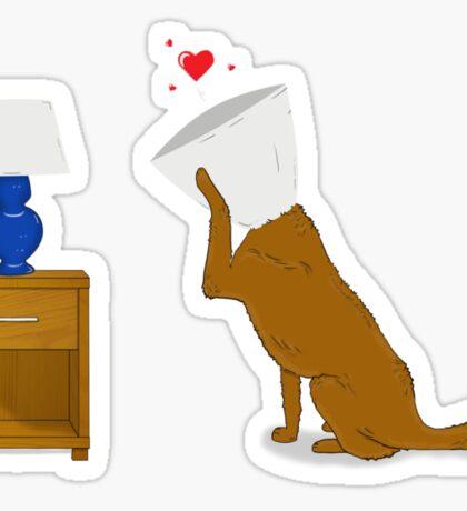 Dog In Love Sticker