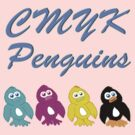CMYK Penguins  by Rajee