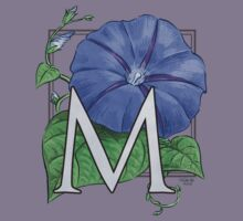 M is for Morning Glory Kids Tee