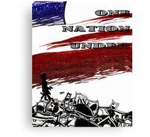 One Nation Under Canvas Print