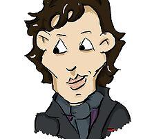 sherlock bbc cumberbatch cartoon by jill815