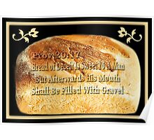 ☝ ☞ BREAD OF DECEIT BIBLICAL SCRIPTURE ☝ ☞ Poster