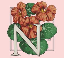 N is for Nasturtium One Piece - Short Sleeve