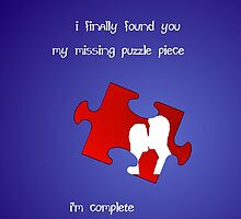 I Finally Found You, My Missing Puzzle Piece by PirateGiraffe