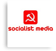 socialist media Canvas Print