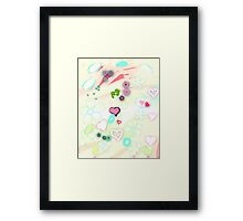 Abstract landscape - Thinking of you Framed Print