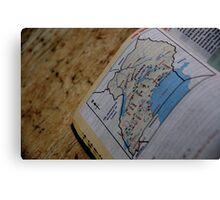 Uganda Map Canvas Print