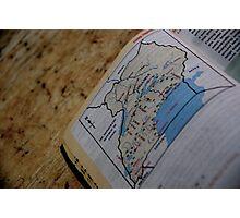 Uganda Map Photographic Print