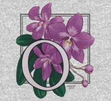 O is for Orchid - patch One Piece - Long Sleeve