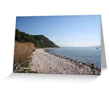 Pebbled Beach  Greeting Card