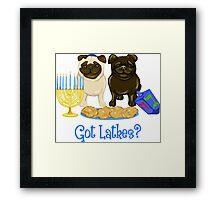 Got Latkes Hanukkah Pug Framed Print