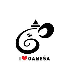 I LUV GANESHA | 02 | iPhone Case by kausthub