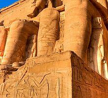 Ramses Colossi - Abu Simbel  by Mark Tisdale
