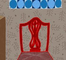 Red chair Sticker