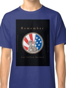 Memorial Day Greeting Card American WWII Soldier Flag Classic T-Shirt