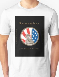 Memorial Day Greeting Card American WWII Soldier Flag Unisex T-Shirt