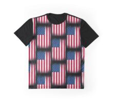 Vintage USA Flag Graphic T-Shirt