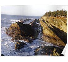 Evening Light on the Oregon Coast Poster