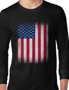Vintage USA Flag Long Sleeve T-Shirt