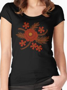 Red Peony Women's Fitted Scoop T-Shirt