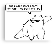 Ice Bear - We Bare Bears Canvas Print
