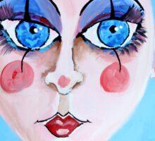 Liebchen - Sweetheart - Woman Art by Valentina Miletic Sticker