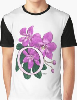 O is for Orchid - full image Graphic T-Shirt