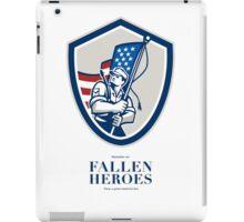 Memorial Day Greeting Card American Soldier Waving USA Flag iPad Case/Skin