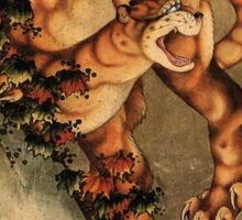 'Tiger in the Rain' by Katsushika Hokusai (Reproduction) Sticker