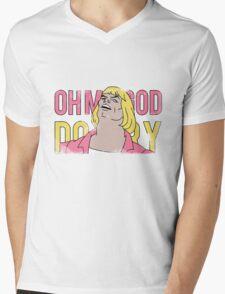 Vintage Look He-Man OH MY GOD DO I TRY Mens V-Neck T-Shirt