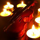 Violin and candles by DavidCucalon