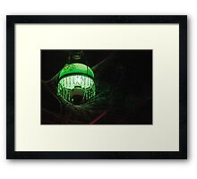 Eerie Lamp in the Rafters 2 Framed Print