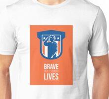 Memorial Day Greeting Card Miilitary Serviceman Salute Shield Unisex T-Shirt
