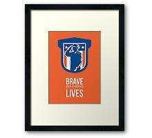 Memorial Day Greeting Card Miilitary Serviceman Salute Shield Framed Print