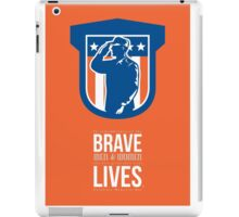Memorial Day Greeting Card Miilitary Serviceman Salute Shield iPad Case/Skin