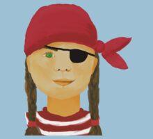 Little Pirate Girl Kids Tee